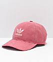adidas Originals Relaxed Plus Maroon & Coral Strapback Hat