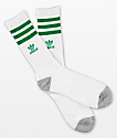 adidas Originals Roller White & Fairway Green Crew Socks