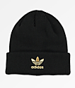 adidas Originals Trefoil Black & Gold Beanie