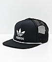 adidas Originals Trefoil Black & White Trucker Hat