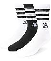 adidas Roller 3 pack calcetines en blanco y negro para mujeres