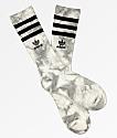 adidas Roller White & Onyx Tie Dye Crew Socks