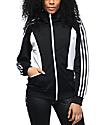 adidas Sandra chaqueta entrenador en blanco y negro