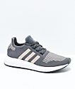 adidas Swift Run Grey, Copper & White Shoes