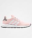 adidas Swift Run Icey Pink, White & Black Shoes