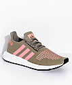 adidas Swift Run Trace Cargo & Pink Shoes