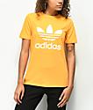 adidas Trefoil  camiseta dorada