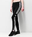 adidas Trefoil 3 Stripe Black Leggings