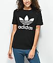 adidas Trefoil Black T-Shirt