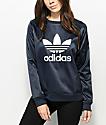 adidas Trefoil Dark Blue Ink Crew Neck Sweatshirt