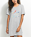adidas Trefoil Heather Grey T-Shirt Dress