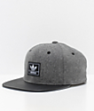 adidas Trefoil Plus Grey & Black Snapback Hat