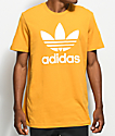 adidas Trefoil Tactile Yellow T-Shirt