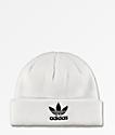 adidas Trefoil White Beanie