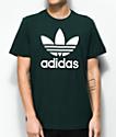 adidas Trefoil camiseta con efecto tie dye en verde