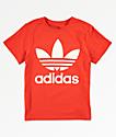 adidas Trefoil camiseta naranja para niños
