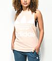 adidas Trefoil camiseta sin mangas en color melocotón