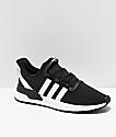 adidas U Path Run Ash Black & White Shoes