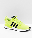 adidas U Path Run Highlighter Yellow & White Shoes