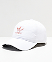 adidas Women's Original White & Pink Strapback Hat