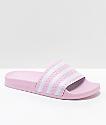 adidas Youth Adilette Pink Slide Sandals