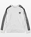 adidas Youth Trefoil White Long Sleeve T-Shirt