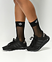 adidas calcetines negros de rejilla