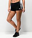 adidas shorts de chándal de tres rayas en negro