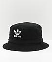 adidas sombrero de cubo con lavado negro