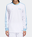 adidas x Krooked White & Clear Blue Long Sleeve T-Shirt