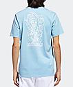 adidas x Krooked camiseta azul claro y blanca