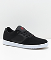 eS Accel Slim Black, Red & White Nubuck Skate Shoes