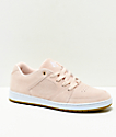 eS Accel Slim Dusty Pink Suede Skate Shoes