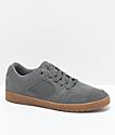 eS Accel Slim Grey & Gum Suede Skate Shoes