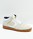 eS Accel Slim Mid Asta White & Gum Skate Shoes