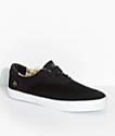 eS Arc Black & Camo Suede Skate Shoes