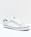 eS Aura Vulc White & Green Skate Shoes