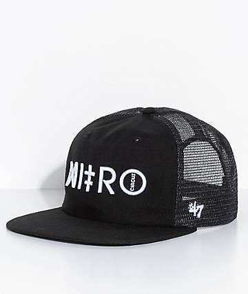 '47 Nitro Circus Gravel Pit Black Snapback Hat