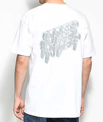 10 Deep 3D White T-Shirt