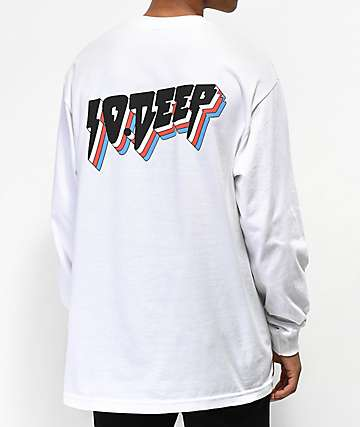 10 Deep All The Lights White Long Sleeve T-Shirt