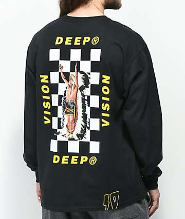 10 Deep Chief Rocker Black Long Sleeve T-Shirt