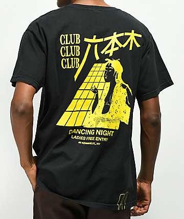 10 Deep Dancing Night camiseta negra con bolsillo