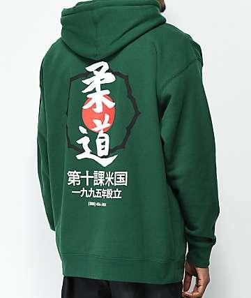 10 Deep Dojo Green Hoodie