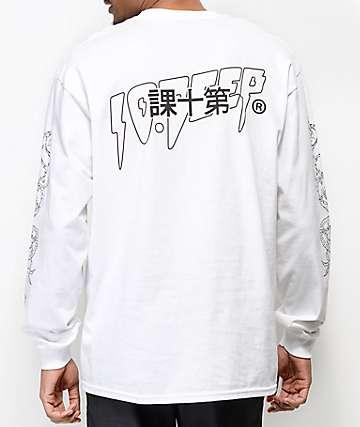 10 Deep Dragon Kanji camiseta blanca de manga larga