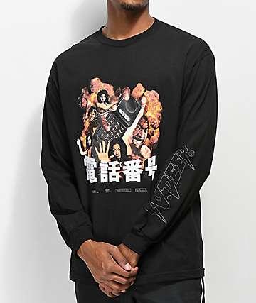 10 Deep Ex Files camiseta negra de manga larga