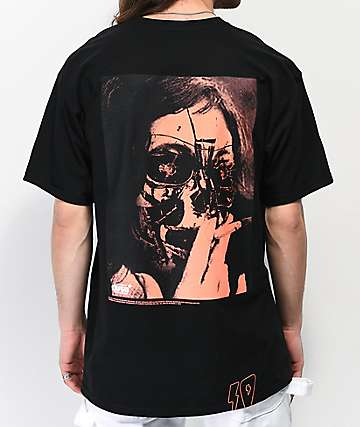10 Deep Heartlaee Black T-Shirt