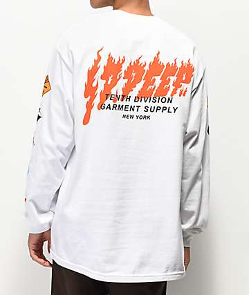 10 Deep Prohibited Long Sleeve White T-Shirt