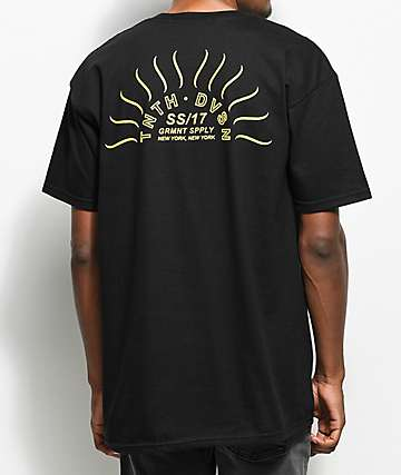 10 Deep Sunrise Black T-Shirt