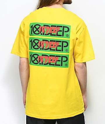 10 Deep Triple Stack III camiseta amarilla