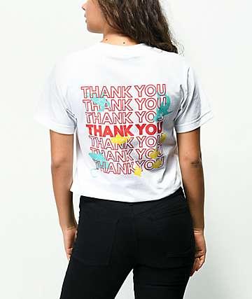 180TIDE Thank You Plastic Bag White T-Shirt